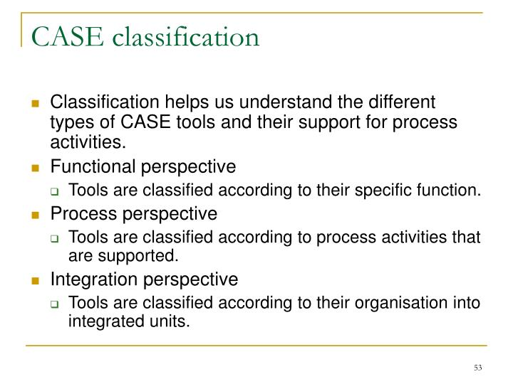 CASE classification