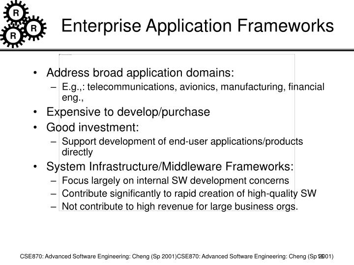 Enterprise Application Frameworks