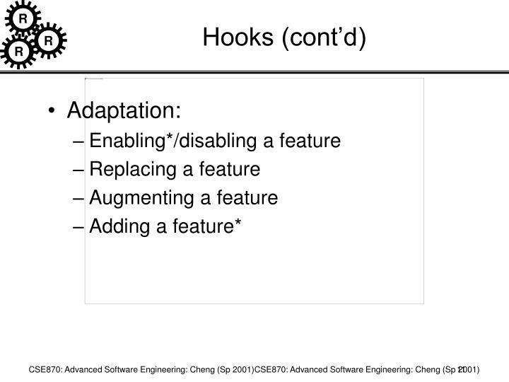 Hooks (cont'd)