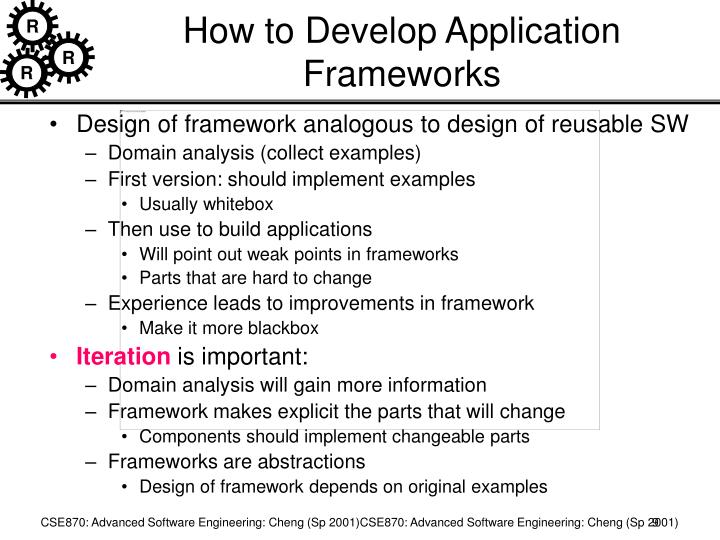 How to Develop Application Frameworks