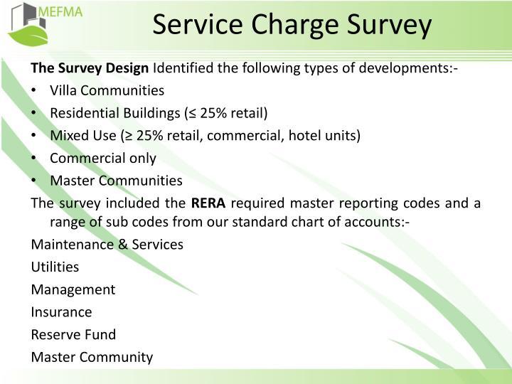 Service Charge Survey