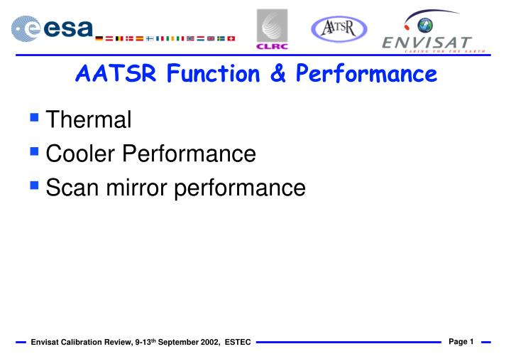 Aatsr function performance