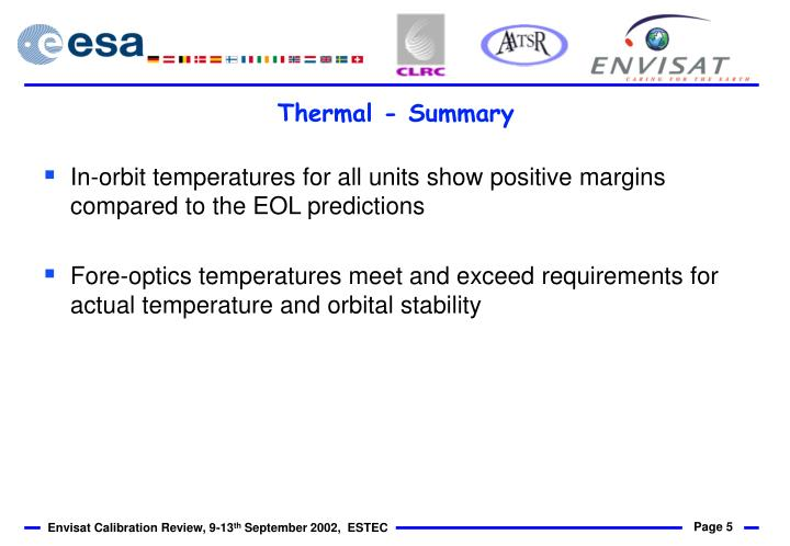 Thermal - Summary