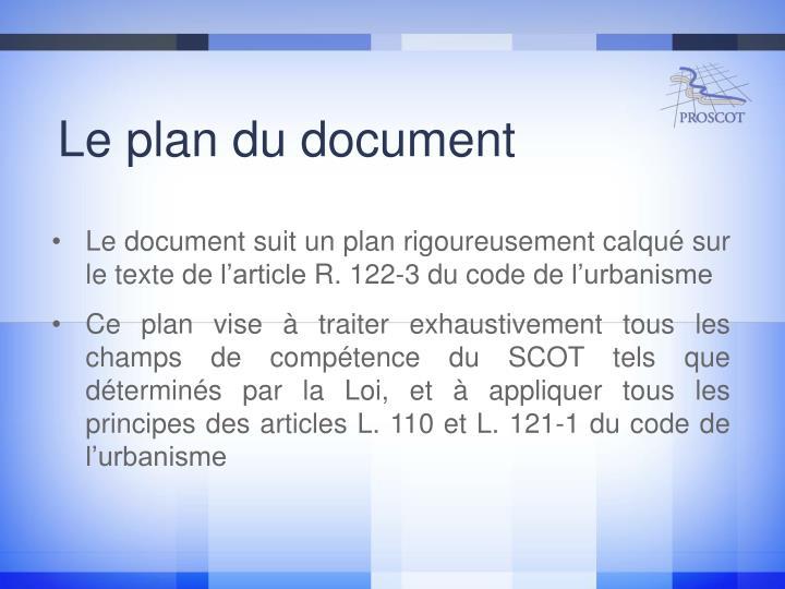 Le plan du document