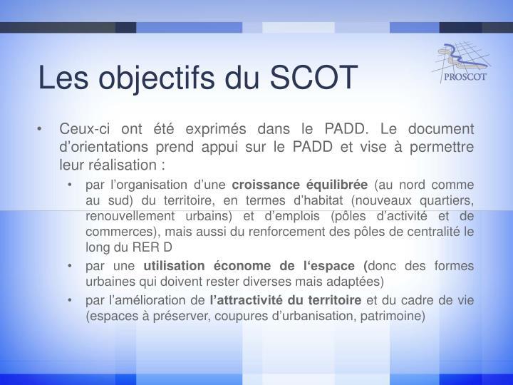 Les objectifs du SCOT