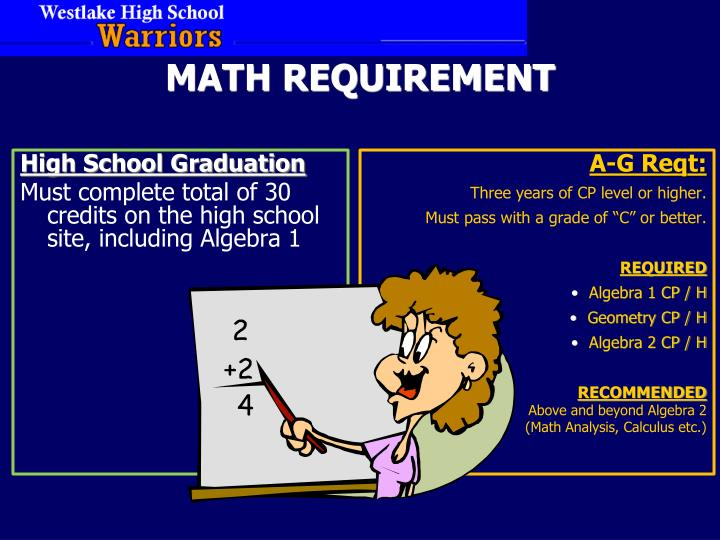 MATH REQUIREMENT