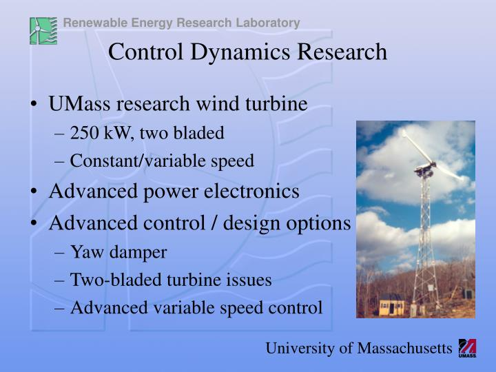 UMass research wind turbine