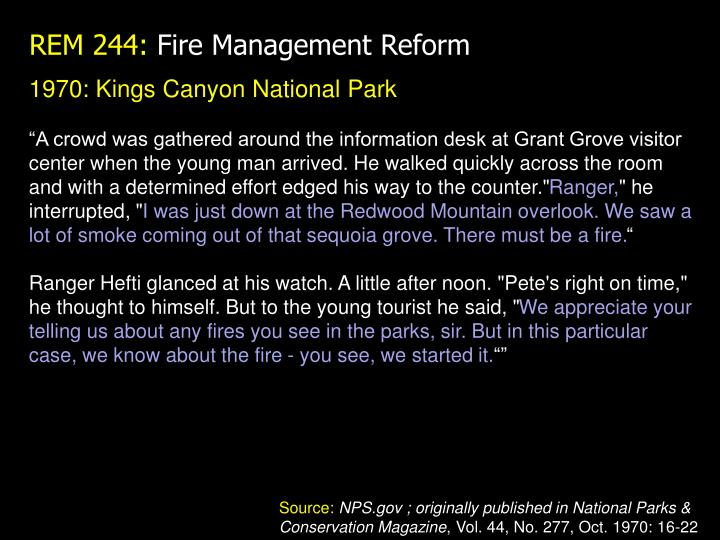 1970: Kings Canyon National Park