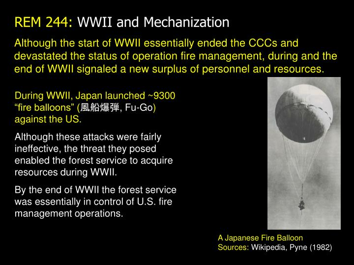 Rem 244 wwii and mechanization