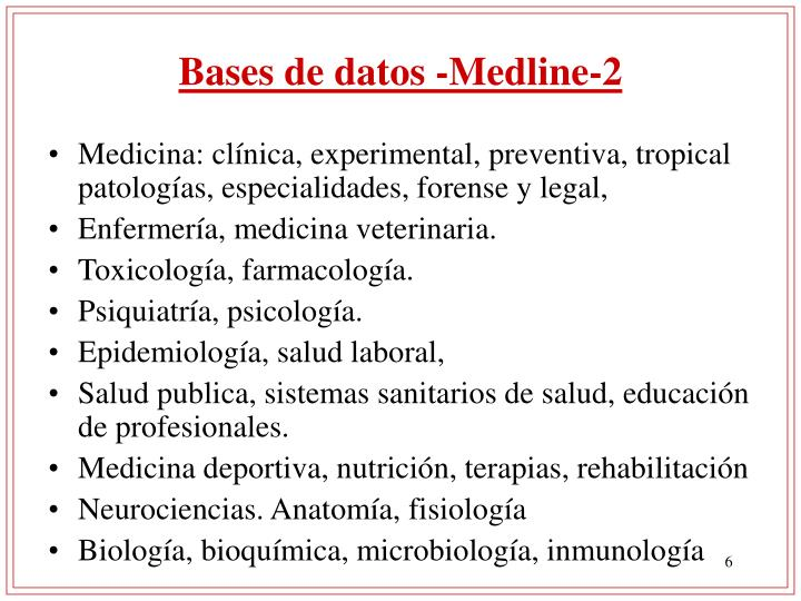 Bases de datos -Medline-2