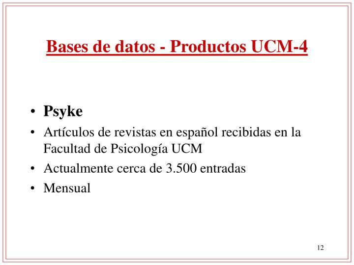 Bases de datos - Productos UCM-4