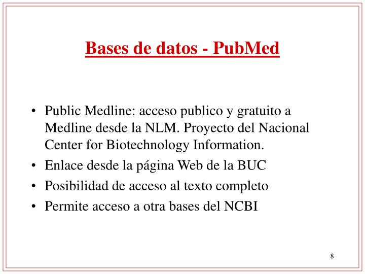 Bases de datos - PubMed
