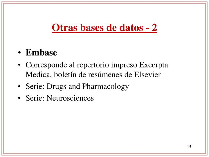Otras bases de datos - 2