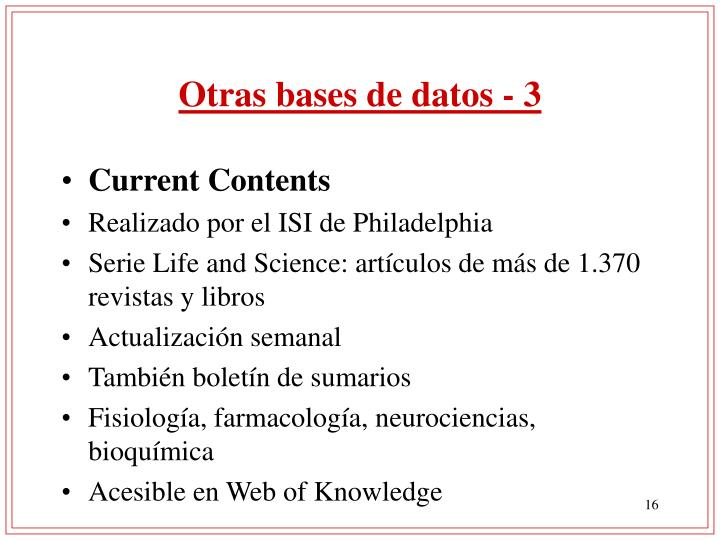 Otras bases de datos - 3
