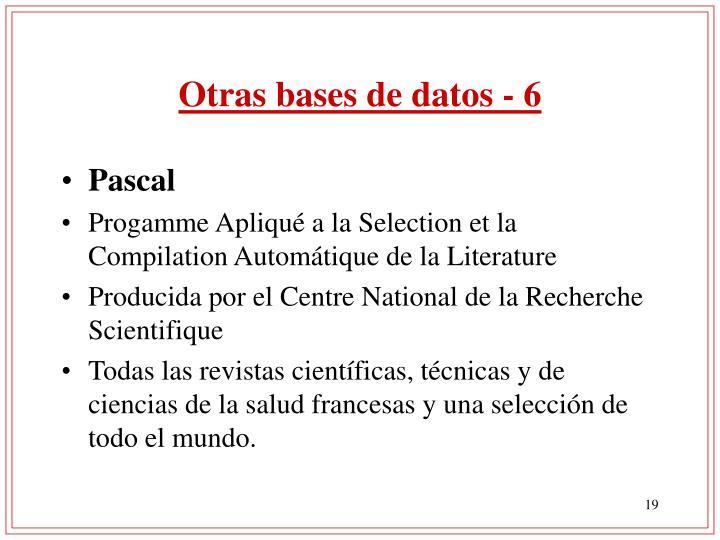 Otras bases de datos - 6