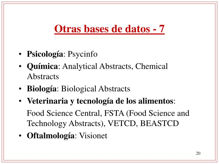 Otras bases de datos - 7