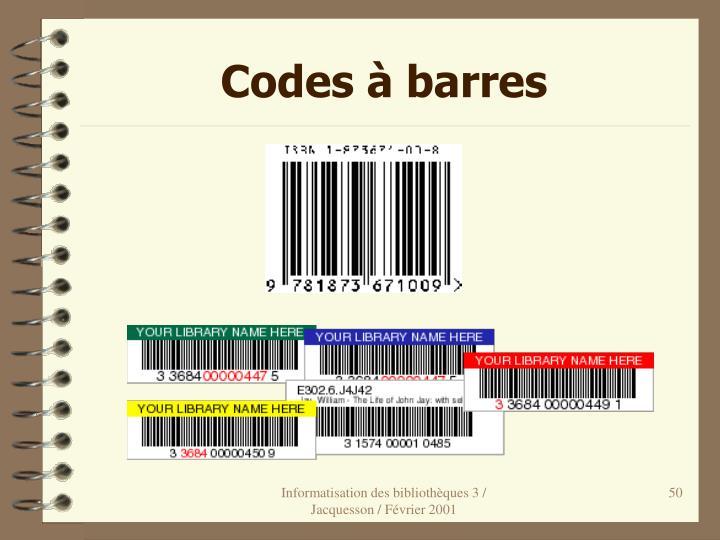 Codes à barres