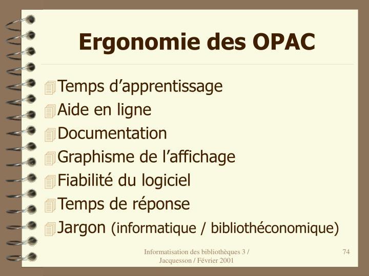 Ergonomie des OPAC