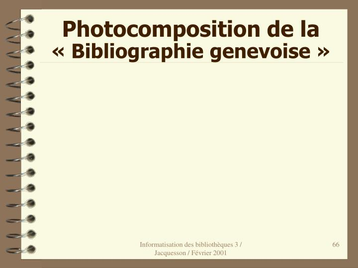 Photocomposition de la