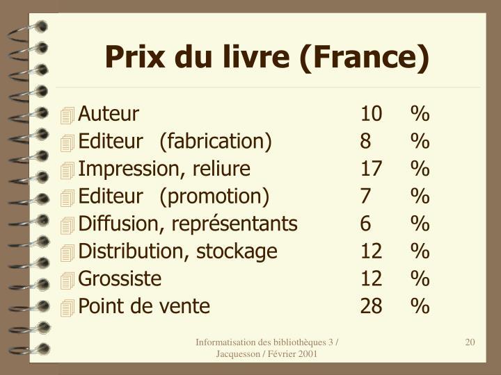 Prix du livre (France)