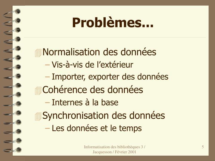 Problèmes...