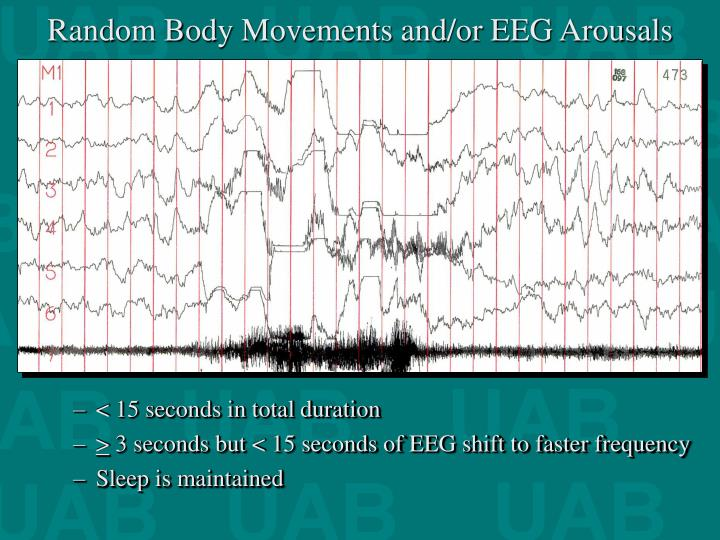 Random Body Movements and/or EEG Arousals