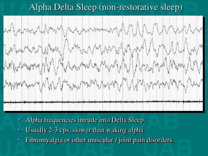 Alpha Delta Sleep (non-restorative sleep)