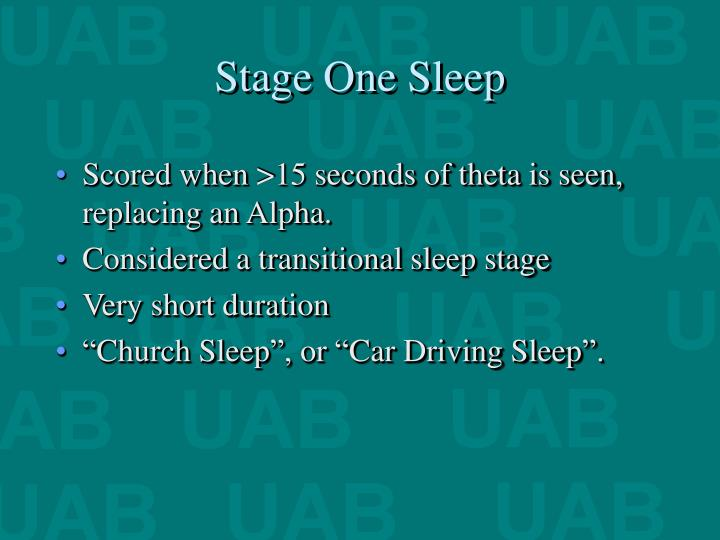 Stage One Sleep