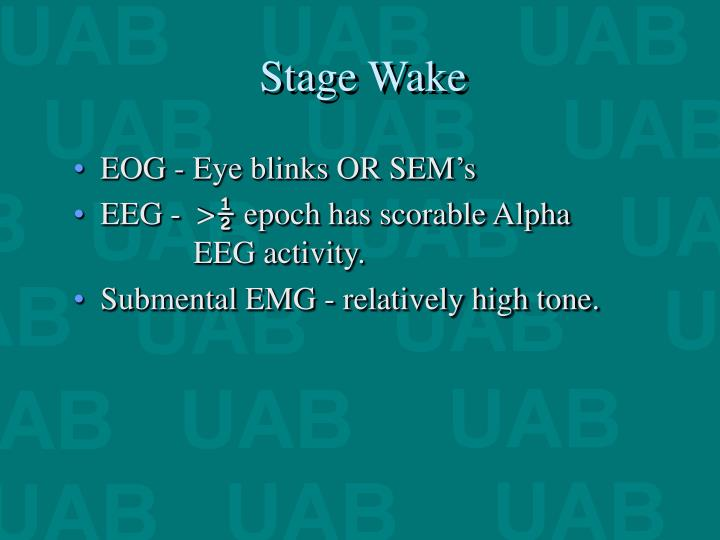 Stage Wake