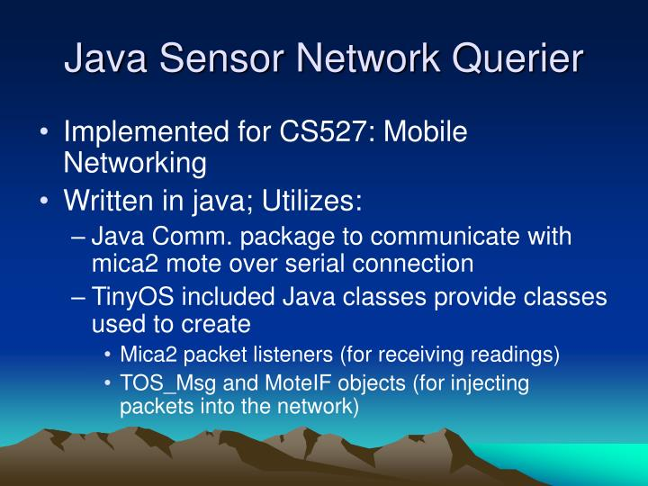 Java Sensor Network Querier