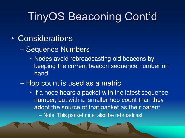 TinyOS Beaconing Cont'd