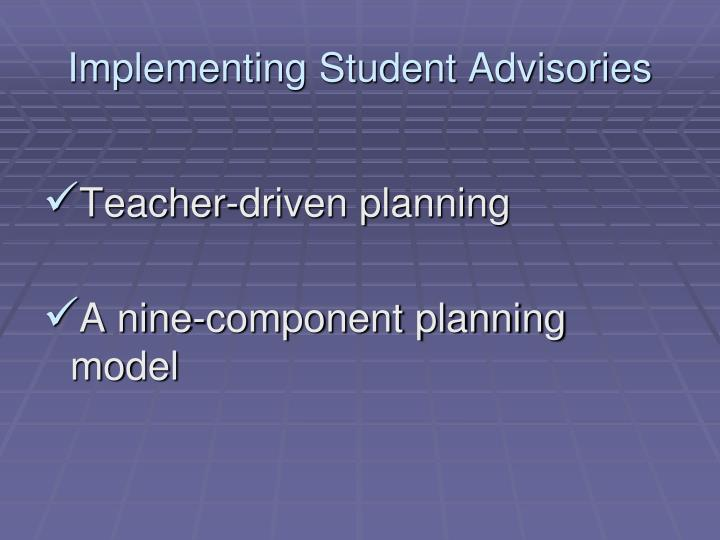 Implementing Student Advisories