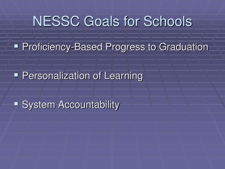 NESSC Goals for Schools