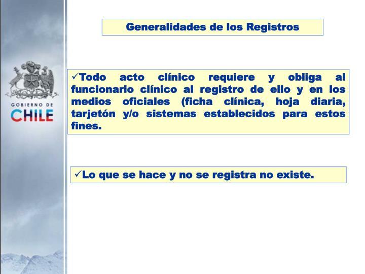 Generalidades de los Registros