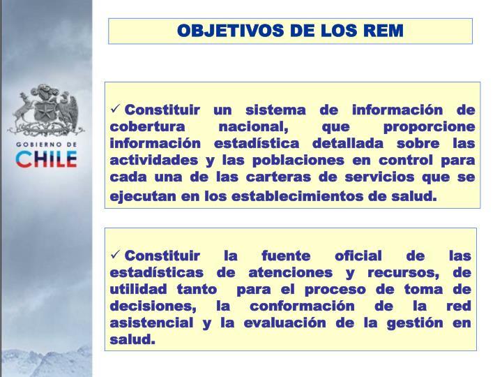 OBJETIVOS DE LOS REM