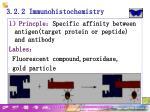 3 2 2 immunohistochemistry