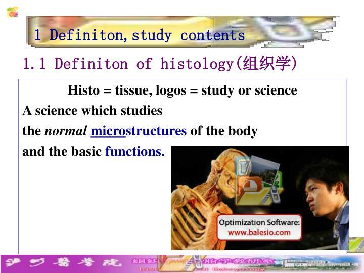 1 Definiton,study contents
