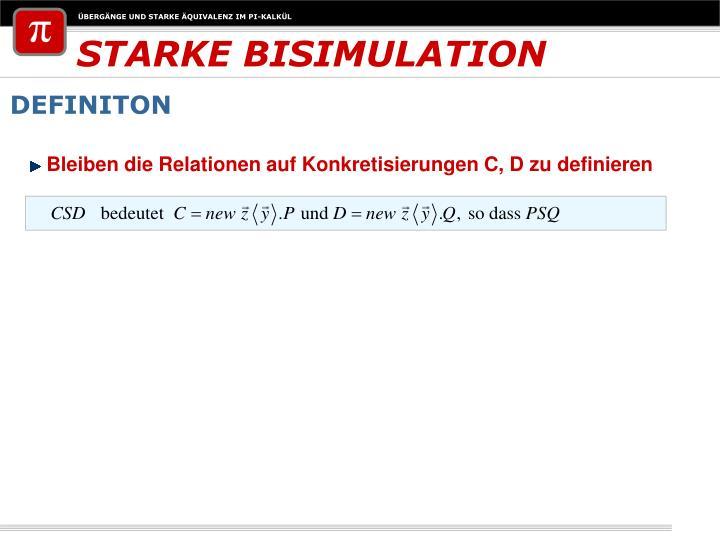 STARKE BISIMULATION