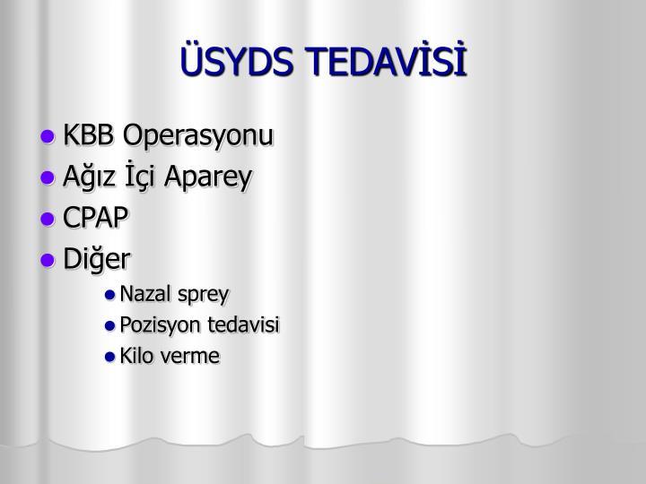 ÜSYDS TEDAVİSİ