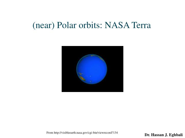 (near) Polar orbits: NASA Terra