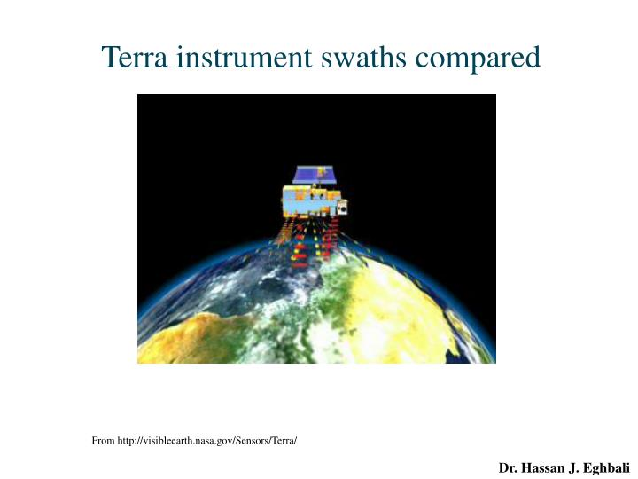 Terra instrument swaths compared