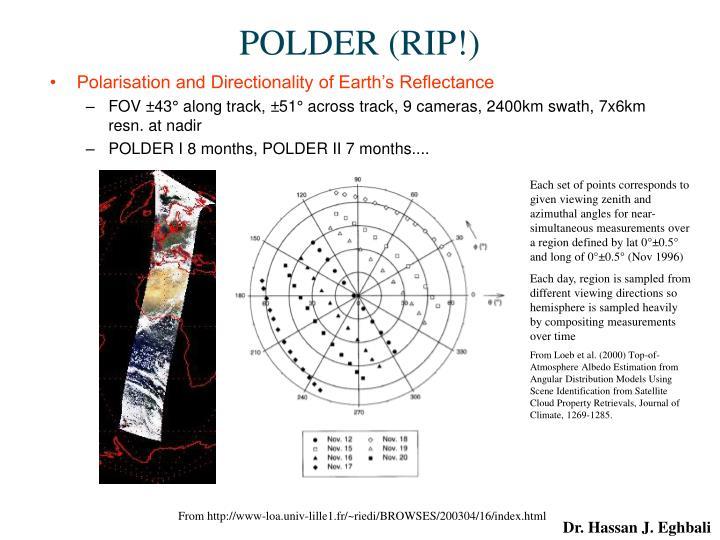 POLDER (RIP!)