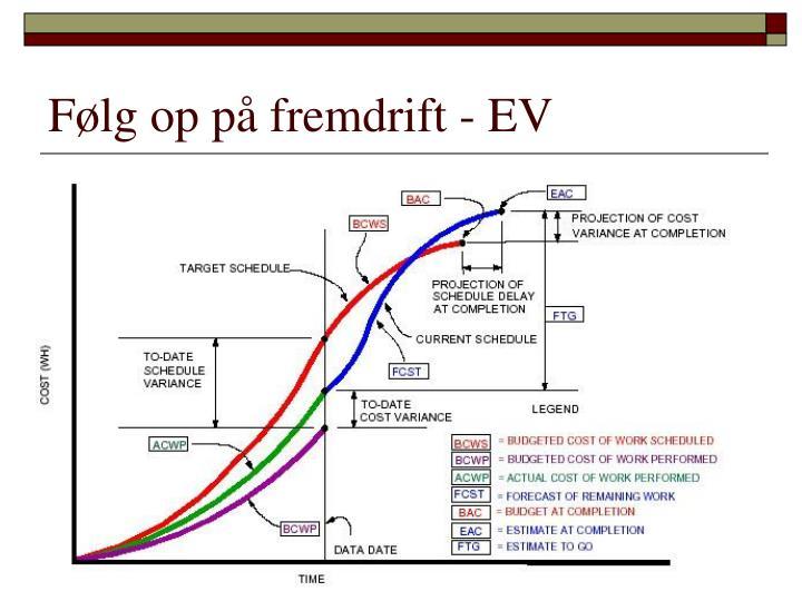 Følg op på fremdrift - EV