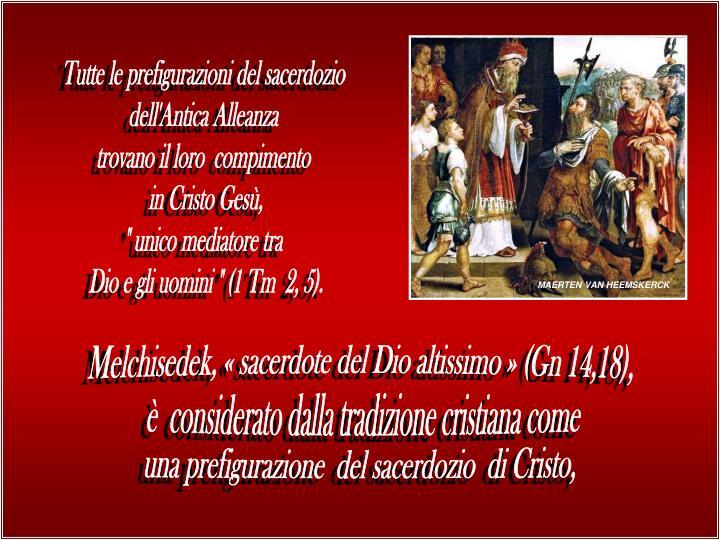 Tutte le prefigurazioni del sacerdozio
