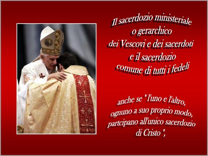 Il sacerdozio ministeriale