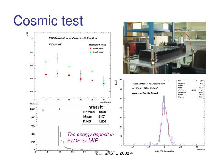 Cosmic test