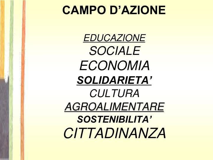 CAMPO D'AZIONE