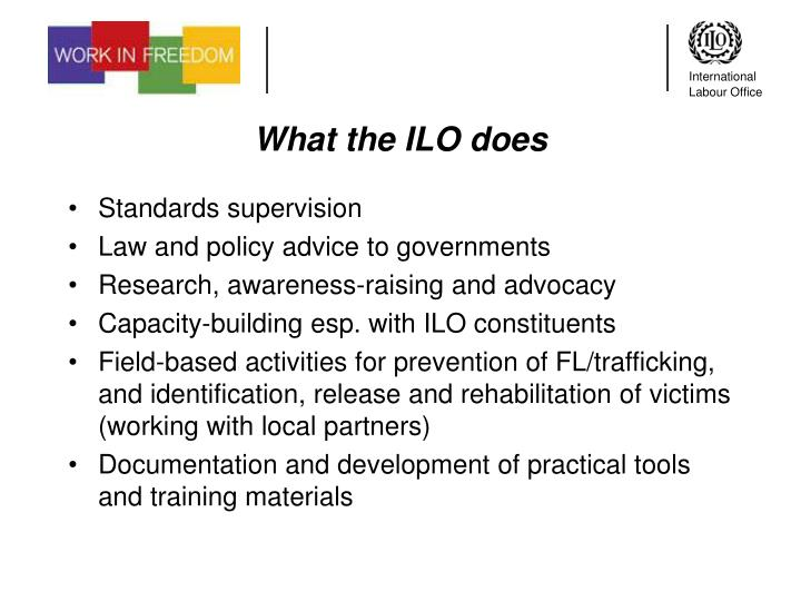 What the ILO does