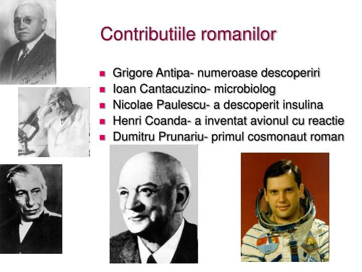 Contributiile romanilor