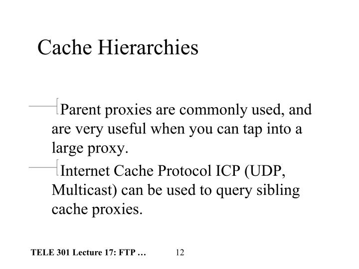 Cache Hierarchies